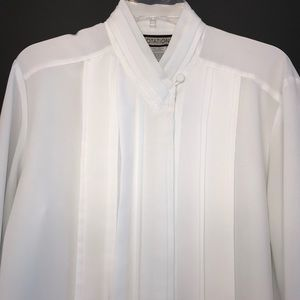 Vintage Notations Pleat Front Blouse Size 13